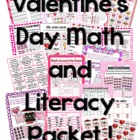 Valentine&#039;s Day Math and Literacy Packet
