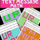 Valentine&#039;s Day Mystery Text Messages - Division Fact Practice