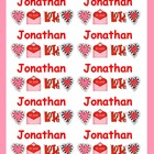 Valentine's Day Name Labels for Bags/Boxes-Type Names-Comi