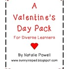 Valentine's Day Pack for Diverse Learners