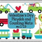 Valentines Day Playdoh and Counting Mats #1-19 (Ten Frame)