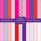 Valentine's Day Polka Dots and Patterns Scrapbook, Backgro