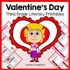 Valentine's Day Quick Common Core Literacy (3rd grade)