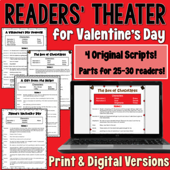http://www.teacherspayteachers.com/Product/Valentines-Day-Readers-Theater-BUNDLE-a-set-of-4-scripts-containing-28-parts-1065839