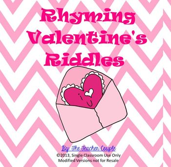 Valentine's Day Rhyming Riddles
