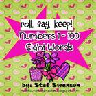 Valentine's Day Roll, Say, Keep {Numbers 1-100 and Sight Words}