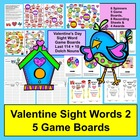 Valentine's Day Sight Words Game Boards-Last 114 Dolch + 10 Nouns