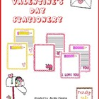 Valentine's Day Stationery for Writing Centers