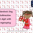 Valentine's Day Subtraction 2 digit with regrouping Smart
