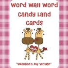 Valentine's Day- Themed Word Wall Word Candy Land Cards