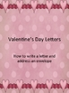 Valentines Day Themed Writing A letter and Addressing an Envelope