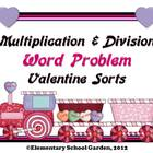 Valentine's Day Train Multiplication and Division Word Pro