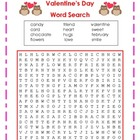 Valentine's Day Word Search/ Word Find