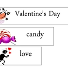 Valentine's Day Word Wall FREEBIE