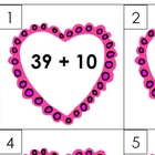 Valentine's Day Write the Room - Add or Subtract 10