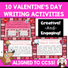Valentine's Day Writing Cards Common Core Aligned