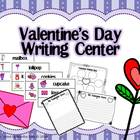{Valentine's Day} Writing Center with Word Wall Cards