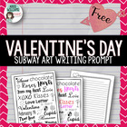 Valentine's Day Writing Prompt / Subway Art Idea - FREE!
