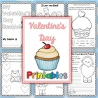 Valentine&#039;s Day Writing Worksheets Vocabulary and More - 24 pages