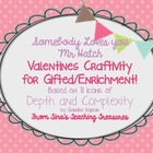 Valentine's Day for Gifted GATE talented: Somebody loves y