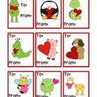 Valentine's Day mini cards - English