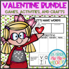 Valentine's Day...Math, Literature, Word Work and Crafts!