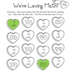 Valentines Double Digit Addition Review Page