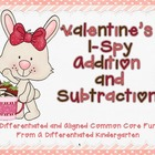 Valentine's I-Spy Addition and Subtraction-Differentiated