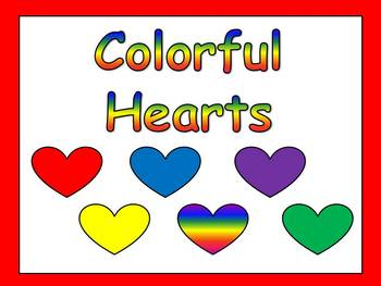Valentines Kindergarten Reading PowerPoint- color & number words