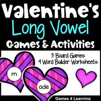Valentine's Long Vowel Games and Activities