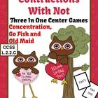 Valentines Not Contractions Center Games Task Cards Printa