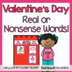 Valentines Real/Nonsense Word Sort