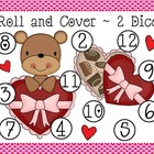 Valentine's Roll and Cover Dice Game (4 games in 1)