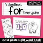 """Valentines for Everyone"" Interactive Sight Word Reader"