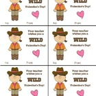 Valentines from the Teacher- Western Themed