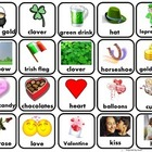 Valentines/St. Patricks Day Words/Memory Game/Flashcards f