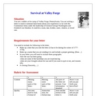 Valley Forge Revolutionary War Lesson Plan with Creative A