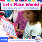 Value Pack! Let's Make Words! Word Family Literacy Station