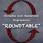 "Variable and Numerical Expressions ""Roundtable"" Simplify E"