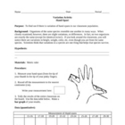 Variation Activity:  Measuring Hand Spans