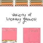 Variety of Literacy Activities