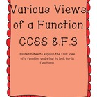 Various views of Functions  Compring and Contrasting Commo