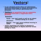 Vectors Graphical Methods Topic 3