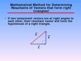 Vectors Mathematical Methods Topic 3