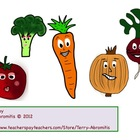 Vegetable Character clipart