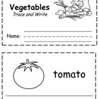Vegetable Words Trace & Write Book
