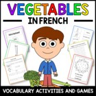 Vegetables in French - vocabulary sheets, worksheets and m