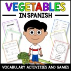 Vegetables in Spanish - vocabulary sheets, worksheets, mat