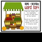 Veggie Sort Real and Nonsense words