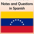 Venezuela Notes and Questions (in Spanish)
